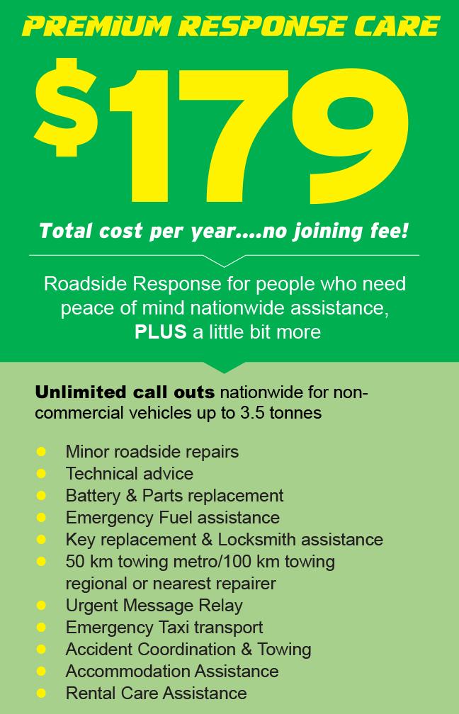 Roadside Response Premium Roadsire Care